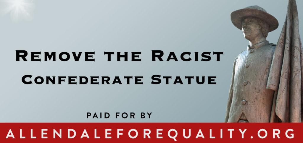 Allendale Billboard - Remove the Racist Confederate Statue